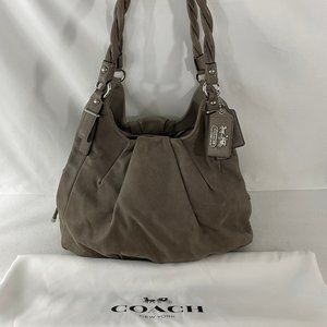 Coach Maggie Madison 17777 Gray Leather Bag